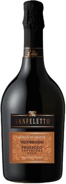 """Игристое вино Sanfeletto, """"Bosco Di Fratta"""" Valdobbiadene Prosecco Superiore DOCG"""