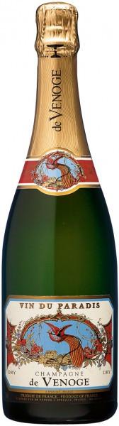 """Шампанское Champagne de Venoge, """"Vin du Paradis"""", Champagne AOC"""
