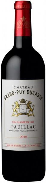 Вино Chateau Grand-Puy Ducasse, 5-eme Grand Cru Classe Pauillac AOC, 2010