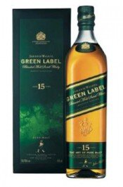 Виски Green Label Vatted Malt 15 years old, with box, 0.7 л