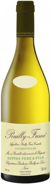 "Вино Gitton Pere & Fils, ""Pechignolles"", Pouilly-Fume AOC, 2010"