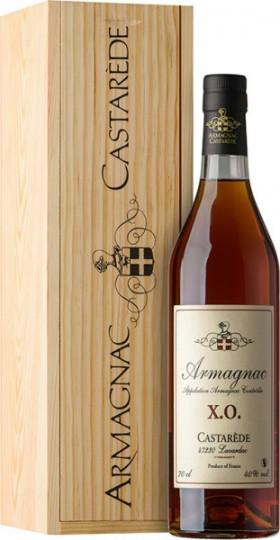 "Арманьяк Castarede, ""Castarede"" XO, Armagnac AOC, wooden box, 0.7 л"