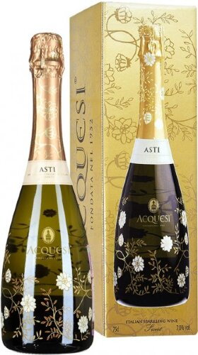 """Игристое вино """"Acquesi"""" Asti DOCG, gift box"""