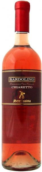 """Вино Bardolino Chiaretto """"Serenissima"""" DOC, 2016"""