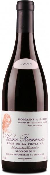 Вино Vosne-Romanee Clos de La Fontaine, A.O.C 2005