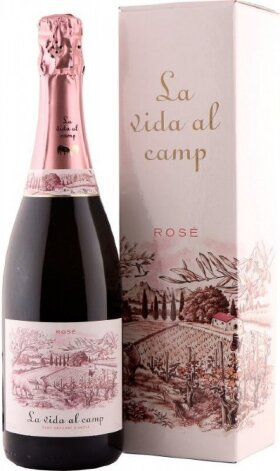 Игристое вино La Vida al Camp, Cava Brut Rose, in gift box