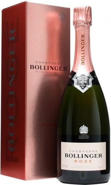 Шампанское Bollinger, Rose Brut, gift box, 1.5 л