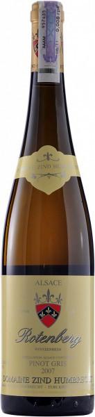"""Вино Zind-Humbrecht, Pinot Gris """"Rotenberg"""", Alsace AOC, 2009"""