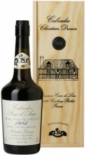 Кальвадос Coeur de Lion Calvados Pays d`Auge 1986, wooden box, 0.7 л