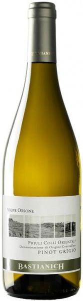 """Вино Bastianich, """"Vigne Orsone"""" Pinot Grigio, Friuli Colli Orientali DOC, 2015"""