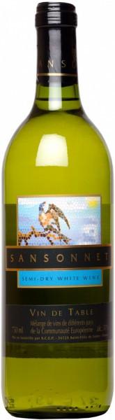 "Вино AdVini, ""Sansonnet"" White Semi-Dry"