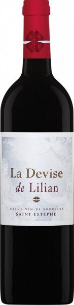"Вино Chateau Lilian Ladouys, ""La Devise de Lilian"", Saint-Estephe AOC, 2010"