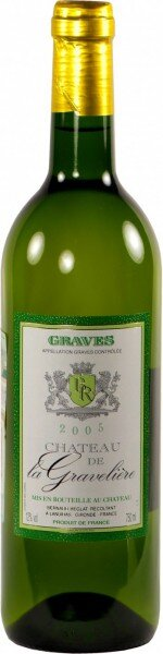 "Вино ""Chateau La Graveliere"" Blanc, Graves AOC, 2005"