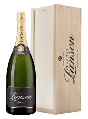 "Шампанское Lanson, ""Black Label"" Brut, gift box, 1.5 л"