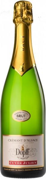 """Игристое вино Dopff au Moulin, Cremant d'Alsace """"Cuvee Julien"""" Brut"""