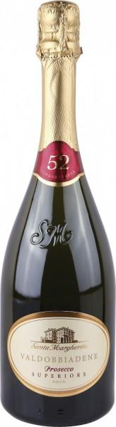 """Игристое вино Santa Margherita, """"52"""" Extra Dry, Valdobbiadene Prosecco Superiore DOCG, 2014"""