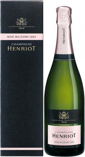 Шампанское Henriot, Brut Rose Millesime, 2005, gift box