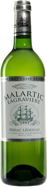 "Вино ""Chateau Malartic Lagraviere"" Blanc, Pessac Leognan Grand Cru Classe de Graves, 2003"