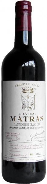 Вино Chateau Matras Saint Emilion Crand Cru Classe 2002