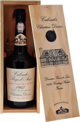 Кальвадос Coeur de Lion Calvados Pays d`Auge 1967, wooden box, 0.7 л