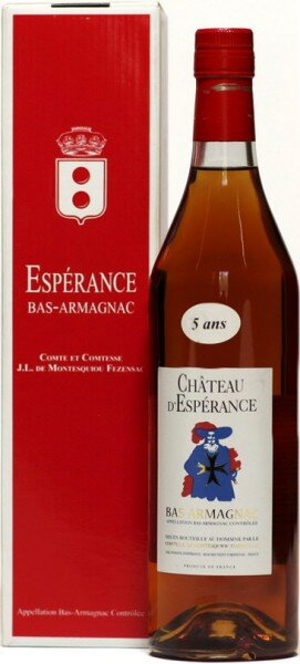 Арманьяк Chateau d'Esperance, Bas-Armagnac, 5 years, box, 0.7 л