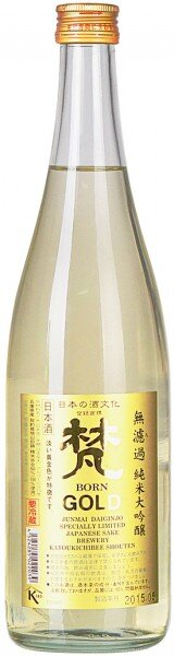 "Саке ""Born"" Gold Junmai Daiginjo, 0.72 л"