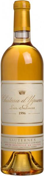 Вино Chateau d'Yquem Sauternes AOC 1-er Grand Cru Superieur, 1996