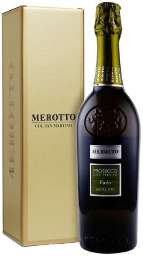 """Игристое вино Merotto, """"Furlo"""" Extra Dry, Prosecco DOC Treviso, gift box"""