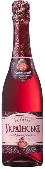 """Игристое вино """"Ukrains'ke"""" rose sweet"""