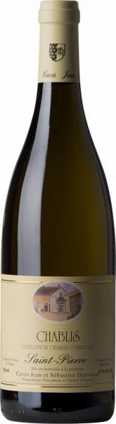 """Вино Domaine Jean et Sebastien Dauvissat, Chablis """"Saint-Pierre"""" AOC, 2014, 0.375 л"""