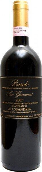 Вино Alessandria Gianfranco, Barolo San Giovanni DOCG, 2005