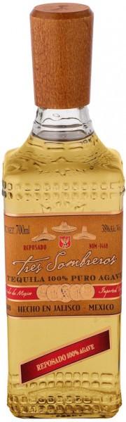 Текила Tres Sombreros Tequila Reposado, 0.7 л