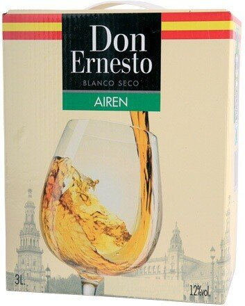 "Вино ""Don Ernesto"" Airen, bag-in-box, 3 л"