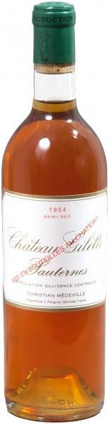Вино Chateau Gilette, Sauternes AOC, Demi-sec, 1954