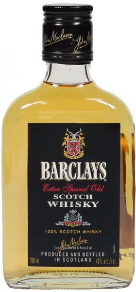 "Виски ""Barclays"" Blended Scotch Whisky, 0.2 л"