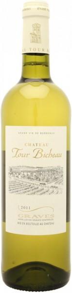 """Вино """"Chateau Tour Bicheau"""" Blanc, Graves AOC, 2011"""