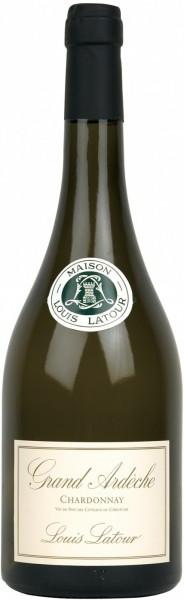 """Вино Louis Latour, """"Grand Ardeche"""" Chardonnay, Coteaux de L'Ardeche, 2012, 1.5 л"""