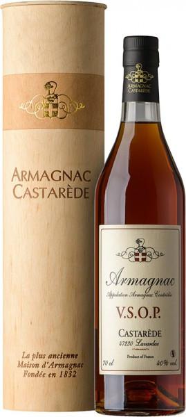"Арманьяк Castarede, ""Castarede"" VSOP, Armagnac AOC, wooden tube, 0.7 л"