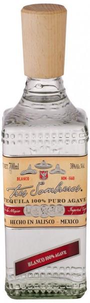 """Текила """"Tres Sombreros"""" Tequila Blanco, 0.7 л"""