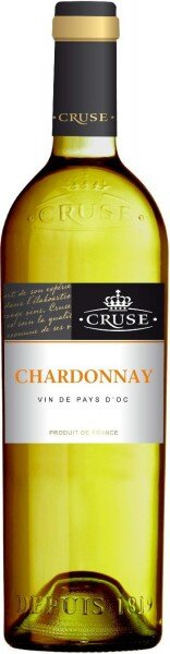 Вино Cruse, Chardonnay, Vin de Pays d'Oc