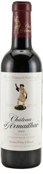 Вино Chateau d'Armailhac Pauillac AOC 5-me Grand Cru Classe, 2007, 0.375 л