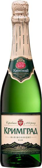 "Игристое вино ""Krimgrad"" white semi-sweet"
