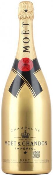 """Шампанское Moet & Chandon, Brut """"Imperial"""", gold bottle, 1.5 л"""