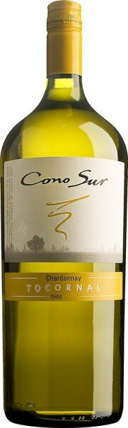 "Вино Cono Sur, ""Tocornal"" Chardonnay, Central Valley DO, 2013, 1.5 л"