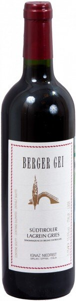 "Вино Niedrist, ""Berger Gei"", Lagrein Gries DOC, 2012"
