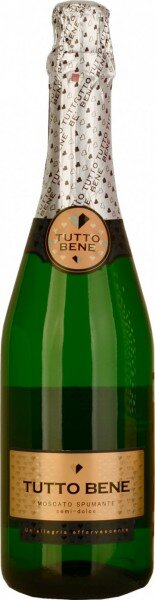"Игристое вино ""Tutto Bene"" Moscato Spumante Semi-Dolce"