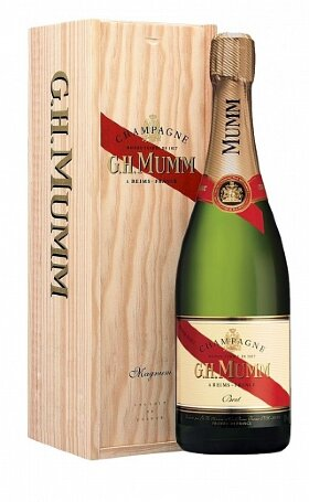 Шампанское Mumm Cordon Rouge wooden box 1.5л