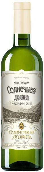 "Вино ""Solnechnaya Dolina"" Blanc semi-sweet"