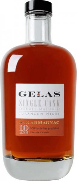 """Арманьяк Gelas, """"Single Cask"""", 10 ans, 0.7 л"""