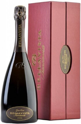 Игристое вино Bellavista, Franciacorta Gran Cuvee Brut, 2006, gift box